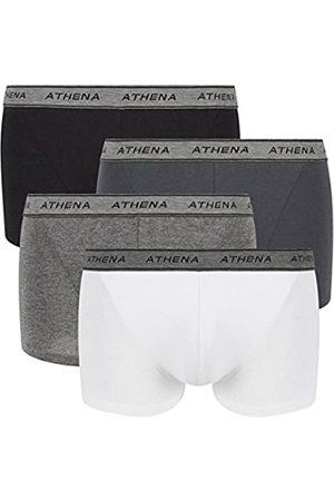 ATHENA Men's Basic Coton Boxer Swim Trunks
