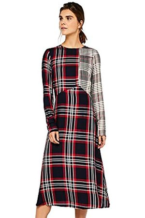 find. Check Mix Midi Dress