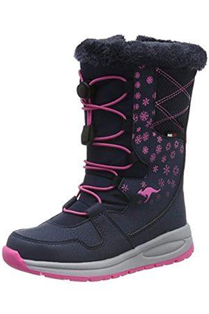 KangaROOS Unisex Kids' K-Glaze RTX Snow Boots, (Dk Navy/Daisy 4204)