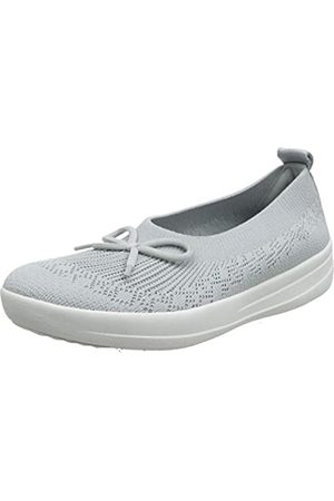FitFlop Women's Uberknit Slip ON Ballerina with Bow Low-Top Slippers, (Pearl 618)