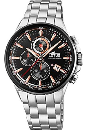 Lotus Mens Analogue Analog Quartz Watch with Stainless Steel Strap 18586/1