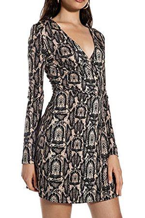 Ivy Revel DE Women's Shiny Wrap Dress Party