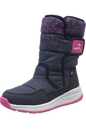 KangaROOS Unisex Kids' K-Fluff RTX Snow Boots, (Dk Navy/Daisy 4204)