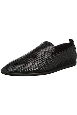 H by Hudson Men's Ipanema Leather Weave Loafer, ( 01)