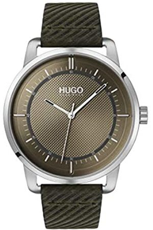 HUGO BOSS Unisex-Adult Analogue Quartz Watch with Leather Strap 1530101