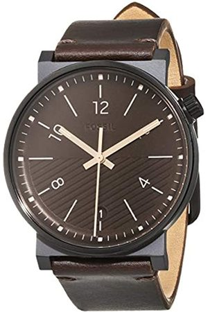 Fossil Mens Analogue Quartz Watch with Leather Strap FS5552