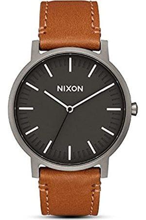 Nixon Unisex Adult Analogue Quartz Watch with Leather Strap A1058-2494-00