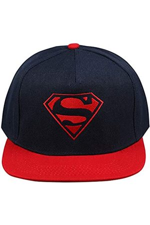 DC Comics Men's Superman Mono Flatback Flat Cap