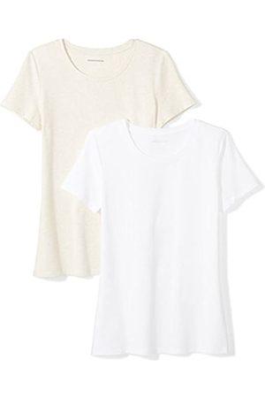Amazon 2-pack Short-sleeve Crewneck Solid T-shirt (Oatmeal Heather/ )