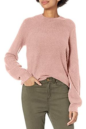 Daily Ritual Mid-gauge Stretch Balloon Sleeve Crewneck Sweater Pale Mauve