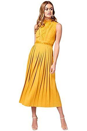 Little Mistress Women's Penelope Spice Lace-Trim Midaxi Dress Party, 001