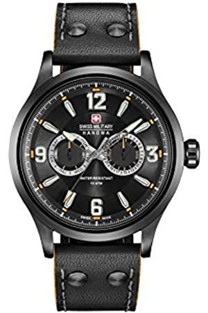 Swiss Military Mens Multi dial Quartz Watch with Leather Strap 06-4307.30.007