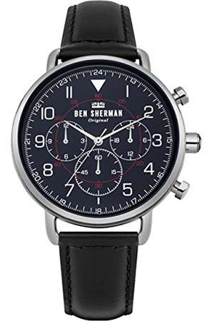 Ben Sherman Mens Multi dial Quartz Watch with Leather Strap WB068UB