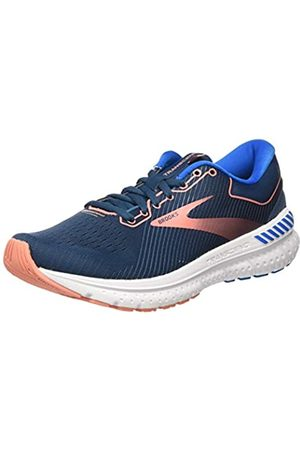 Brooks Women's Transcend 7 Running Shoe, Majolica/Navy/Desert