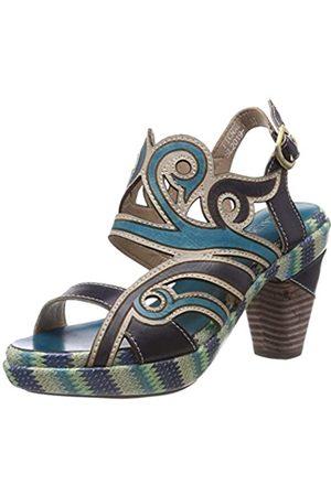 Laura Vita Women's Ficnalo 01 Open Toe Sandals, (Jeans Jeans)