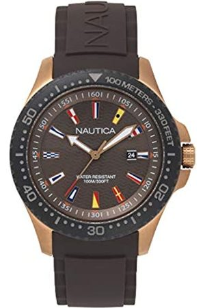 Nautica Unisex Adult Quartz Watch with Silicone Strap NAPJBC007