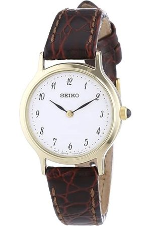 Seiko Women's Quartz Watch Lederband Damen SFQ828P1 with Leather Strap