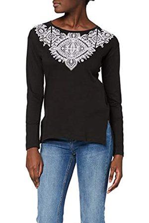 Inside Women's 8SPLN18 Longsleeve T-Shirt, (Negro 1)