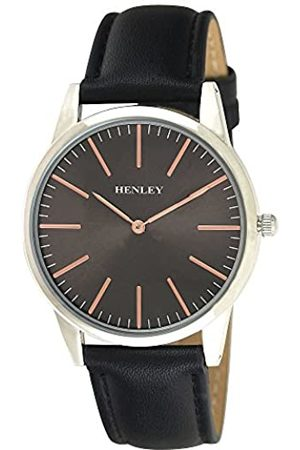 Henley Mens Analogue Classic Quartz Watch with PU Strap H02155.3