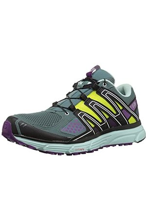 SALOMON Women's X-Mission 3 W Trail Running Shoes, (North Atlantic/Eggshell /Grape)