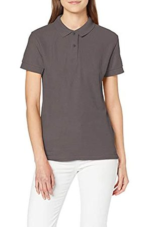 GILDAN Women's DryBlend Ladies Double Pique Polo Shirt, (Charcoal)