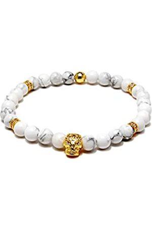 VON LUKACS Men Tiger's Eye Stretch Bracelet EMGWH6M