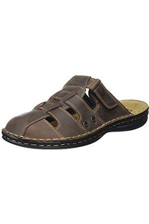 TBS Men's Bassoa Closed Toe Sandals, (Marron H8005)