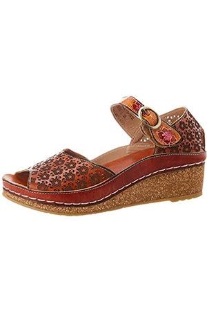 LAURA VITA Women's Facscineo 03 Open Toe Sandals, (Camel Camel)