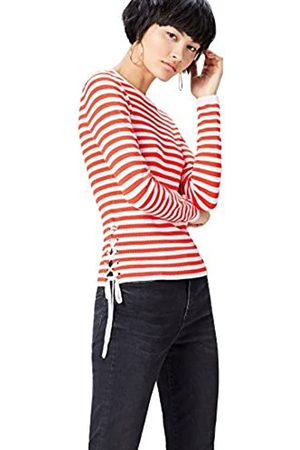 FIND Women's Jumper Striped Crew Neck, Multicoloured (Sports / )