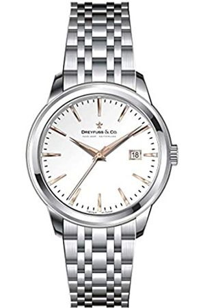 JÉRÔME DREYFUSS Womens Analogue Classic Quartz Watch with Stainless Steel Strap DLB00125/06