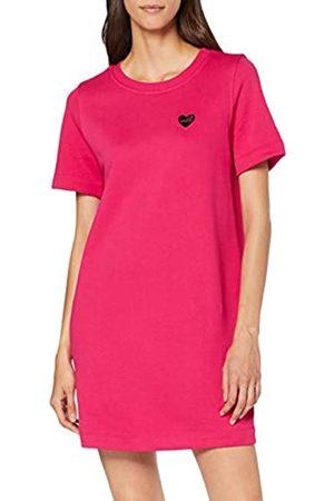 Love Moschino Women's Heart Shaped Badge_Short Sleeve Dress