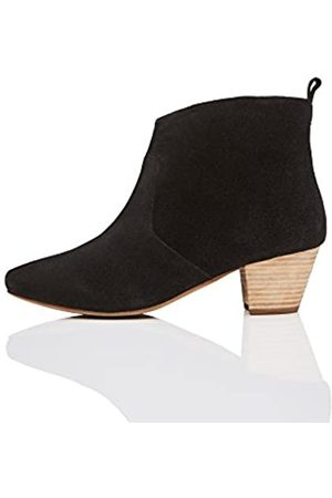 FIND Leather Western Ankle Boots