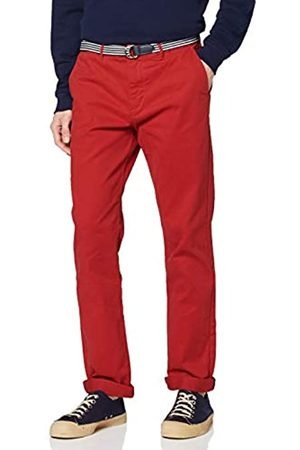 Scotch & Soda Men's AMS Blauw Stretch Stuart Chino with Belt Trouser