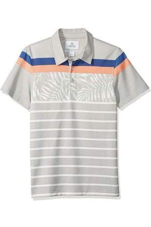 28 Palms Standard-Fit Hawaiian Performance Pique Polo Shirt Floral Stripe