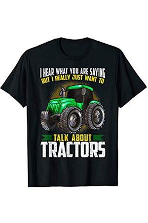 Red Vintage Tractor T-Shirt Tee Kid Children  Xmas Christmas Tree Farmer Farm