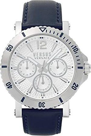 Versus Versace Versus by Versace Men's Analogue Quartz Watch with Leather Strap VSP520118