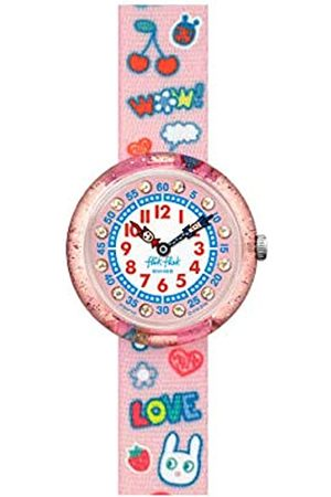 Flik Flak Girls Analogue Quartz Watch with Textile Strap FBNP135
