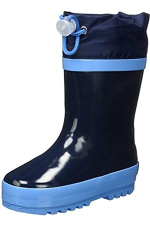 Playshoes Unisex Kid's Lined Rain Boot Wellies Classic Wellington Rubber, (Marine 11)