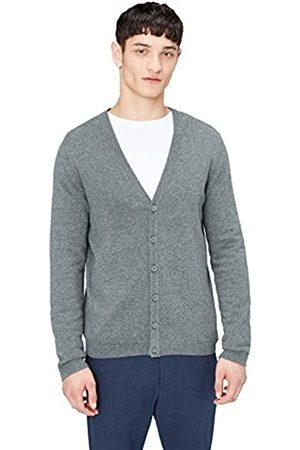 FIND Amazon Brand - Men's Cardigan in Cotton Button Down
