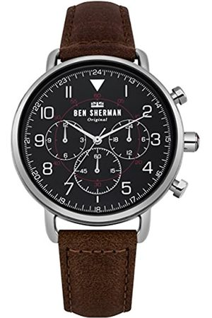 Ben Sherman Mens Multi dial Quartz Watch with Leather Strap WB068BBR