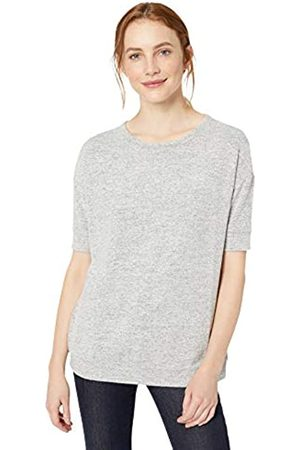 Daily Ritual Women's Cozy Knit Slouchy Short-Sleeve Sweatshirt