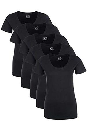 Berydale Für Sport & Freizeit, Rundhalsausschnitt T-Shirt, Schwarz), X-Small