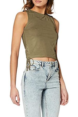 Urban classics Women's Ladies Lace Up Cropped Top Tank