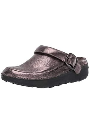 FitFlop Women's Gogh Pro Superlight Glitzy Clogs, (Pewter 054)