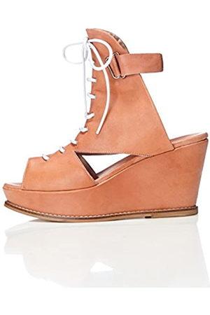 FIND Women's Bree Wedge Sandals (Nude) 8 UK (41 EU)