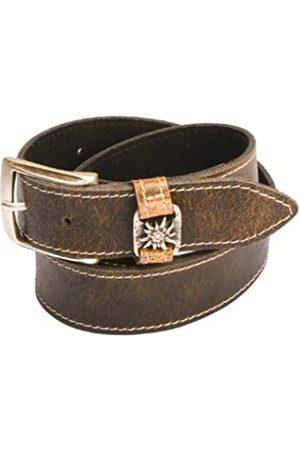 Werner Trachten Men's Belt - - Braun (510 Antik Braun) - S