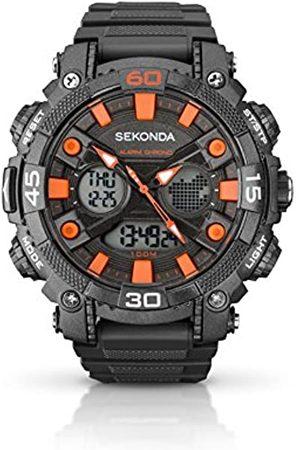 Sekonda Men's Digital Watch with Dial Digital Display and Grey Plastic Strap 1037.05