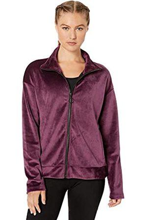 Core 10 Luxe Velvet Full-zip Yoga Jacket Wine/