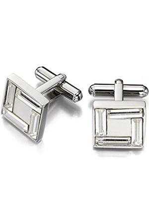 Fred Bennett Stainless Steel for Men's Swarovski Clear Crystal Cufflinks