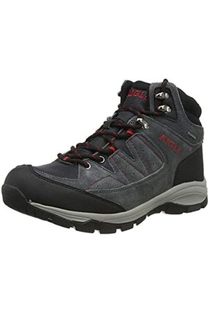 Aigle Men's Vedur Mid MTD High Rise Hiking Shoes, (Midgrey/Rouge 001)